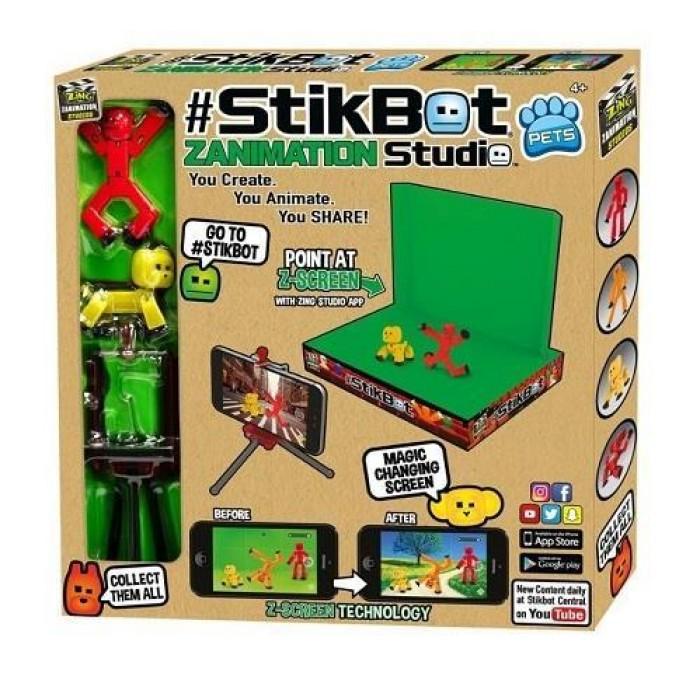 Анимационная студия Stikbot (Стик Бот) со сценой