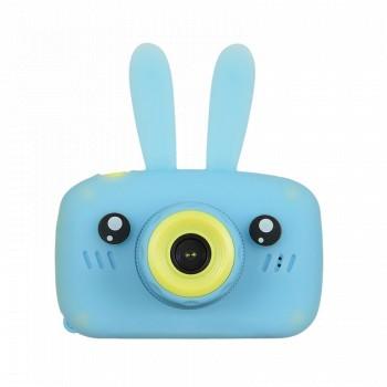 Детский фотоаппарат Fun Camera Rabbit со встроенной памятью и играми (голубая)