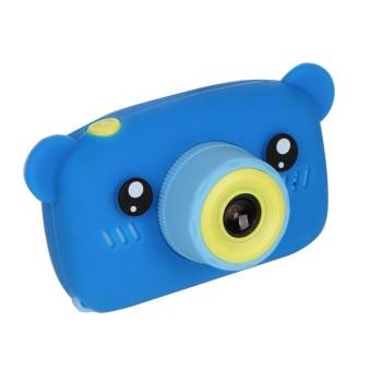 Детская камера ZooKids Bear со встроенной памятью и играми (синяя)