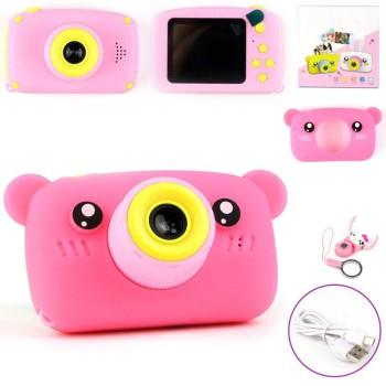 Детская камера ZooKids Bear со встроенной памятью и играми (розовая)