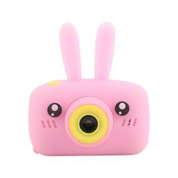 Детская камера ZooKids Rabbit со встроенной памятью и играми (розовая)