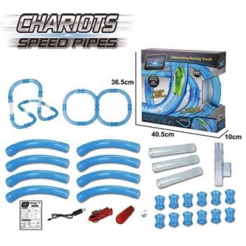 Трубопроводные гонки Chariots Speed Pipes , набор 38 деталей