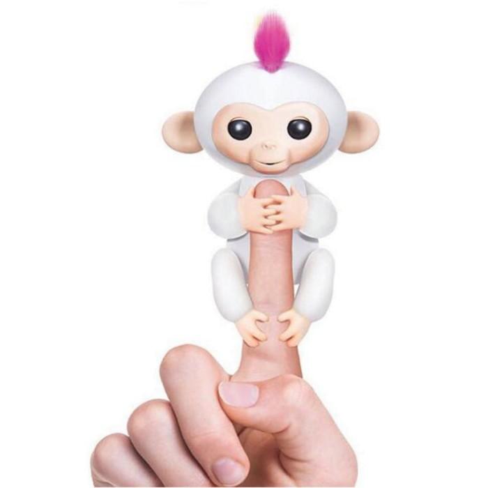 Интерактивная ручная мини -обезьянка -Fingerlings -Белая- Sophie