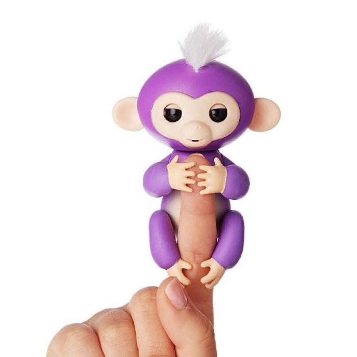 Интерактивная ручная обезьянка Fingerlings Лиловая -Mia