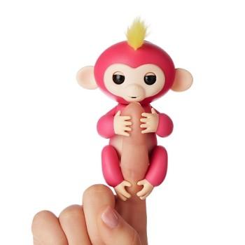 Интерактивная ручная мини -обезьянка -Fingerlings -Розовая- Bella