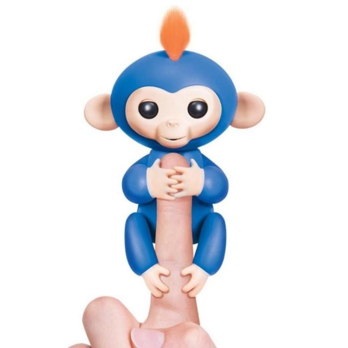 Интерактивная ручная мини -обезьянка -Fingerlings -Голубая- Boris