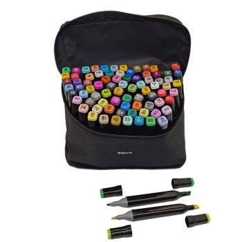 Набор маркеров для скетчинга , 80 цветов