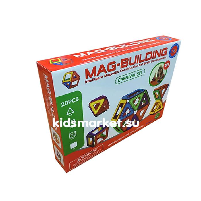Магнитный развивающий конструктор Mag Building 20 деталей