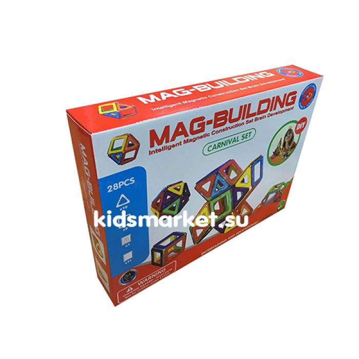 Магнитный развивающий конструктор Mag Building 28 деталей
