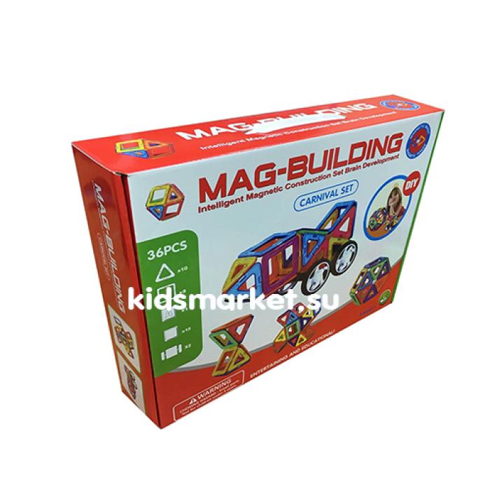 Магнитный развивающий конструктор Mag Building 36 деталей