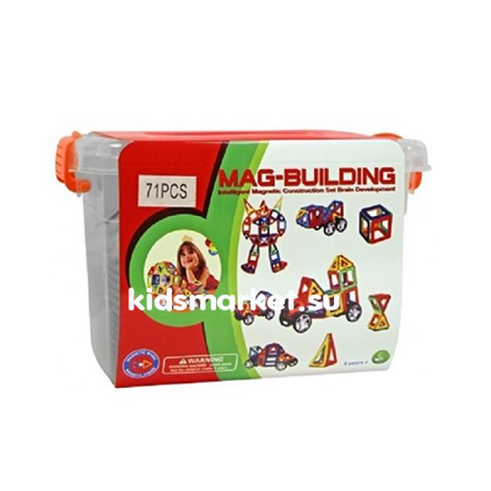 Магнитный развивающий конструктор Mag Building 71 деталей