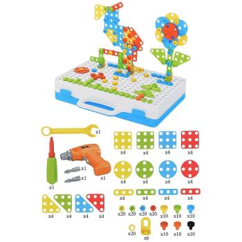 Конструктор-мозаика с отверткой и шуруповертом Creative Mosaic, 237 деталей