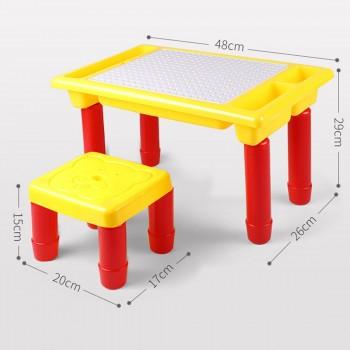 Конструктор с шуруповертом, столом и стулом Creative Learning Table 208 деталей