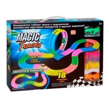 Трасса Magic 366 деталей 2 машинки + мертвая петля