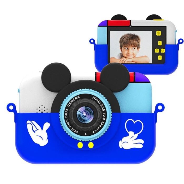 Детский цифровой фотоаппарат Микки Маус, синий