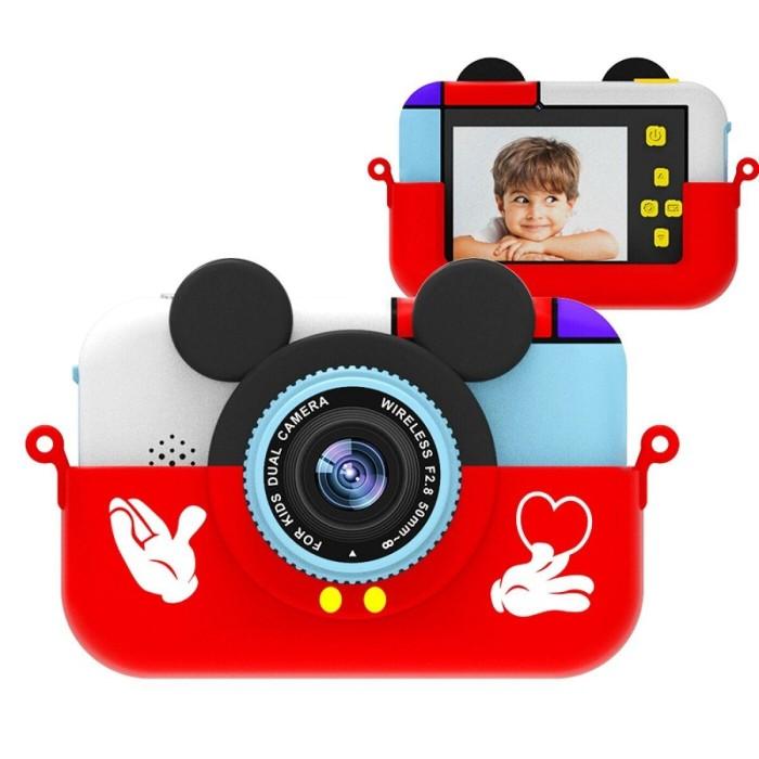 Детский цифровой фотоаппарат Микки Маус, красный