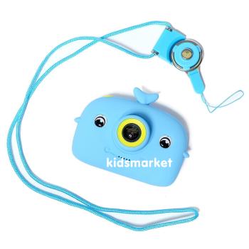 """Детский фотоаппарат """"Кит"""", цвет голубой"""