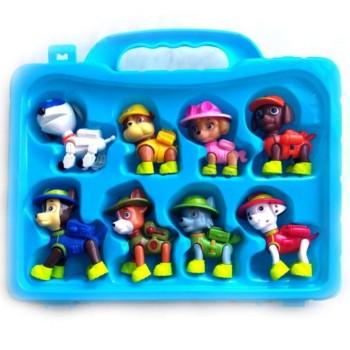 Набор из 8 фигурок в чемодане Щенячий патруль