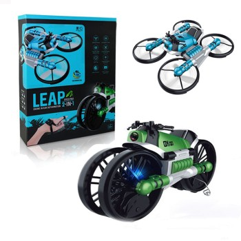 Квадрокоптер-мотоцикл 2 в 1 | Мотодрон | FlyDrive