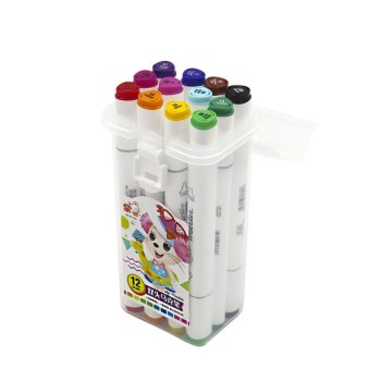 Двухсторонние маркеры для скетчинга Art-Marker / 12 шт