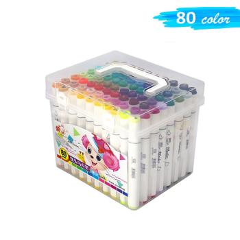 Двухсторонние маркеры для скетчинга Art-Marker / 80 шт