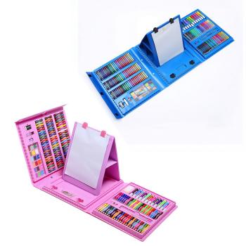 Набор для рисования со складным мольбертом в чемоданчике, 208 предметов